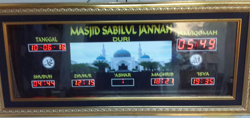 Desain background jam digital masjid, jadwal sholat digital 2